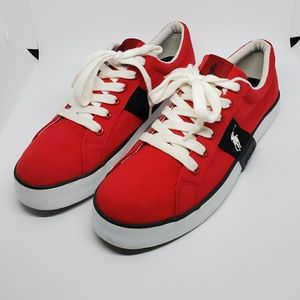 Polo by Ralph Lauren Thorton Sneakers Size 9 1/2 .